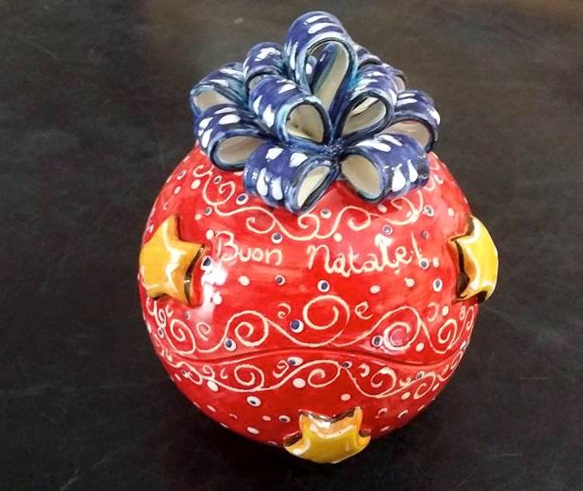 palline ceramica albero di natale