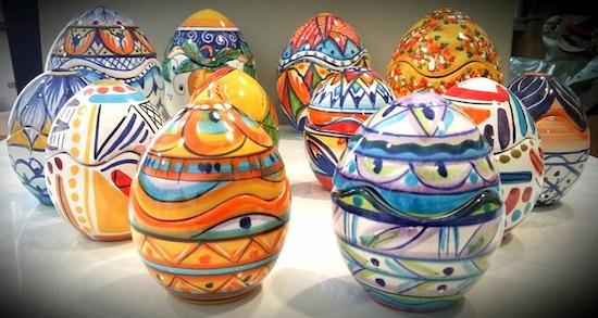 Uova Di Pasqua Ceramica.Uova Porta Candele Pasqua Ceramica Celano